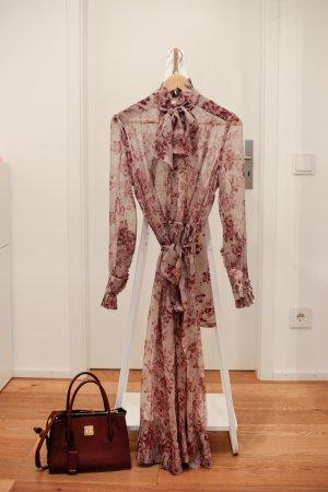 Zimmermann Maxi Dress mauve-grey lilac silk