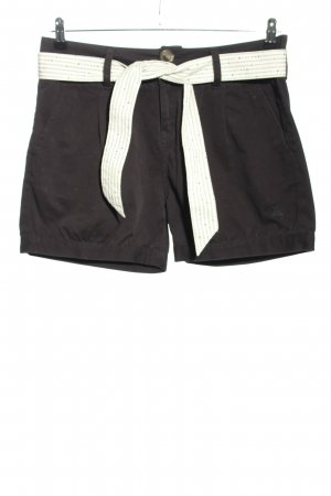 Zimtstern High-Waist-Shorts schwarz Casual-Look