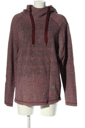 Zimtstern Kapuzensweatshirt lila meliert Casual-Look