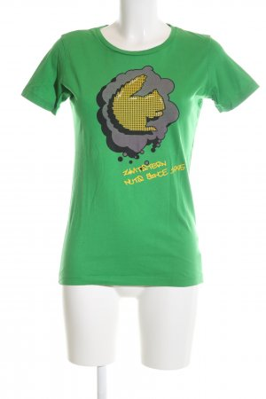 Zimtstern Print-Shirt grün-blassgelb Motivdruck Casual-Look