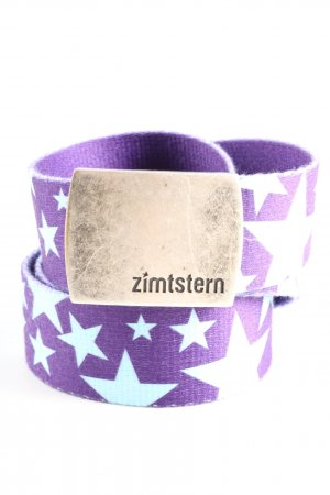 Zimtstern Fabric Belt lilac-turquoise themed print casual look