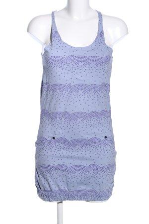 Zimtstern Trägerkleid blau-lila grafisches Muster Casual-Look