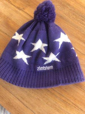 Zimtstern Chapeau en fourrure blanc-violet