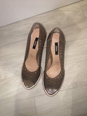 Zinda Peep Toe Pumps light brown-grey brown