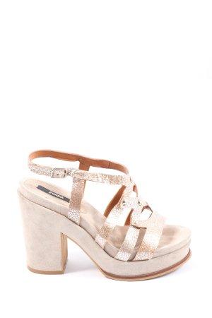 Zinda Platform High-Heeled Sandal cream elegant