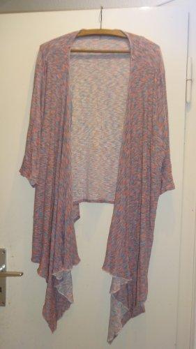 Sara Lindholm Short Sleeve Knitted Jacket multicolored