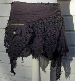 Kopertowa spódnica ciemnobrązowy Bawełna