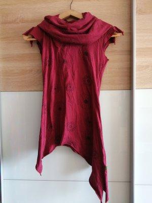 Vishes Sukienka tunika czarny-ciemnoczerwony