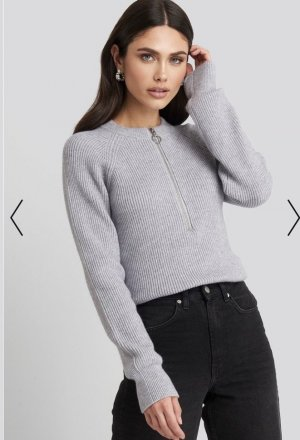 Zipper Knitted Pullover NA-KD Gr.M