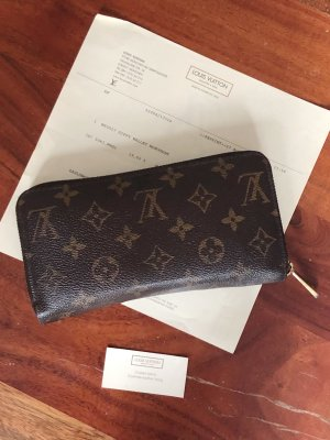 Zippy Wallet Monogram von Louis Vuitton mit Originalrechnung