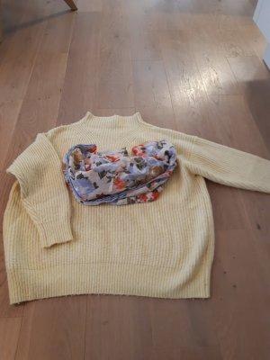 Mango Pull en laine jaune clair