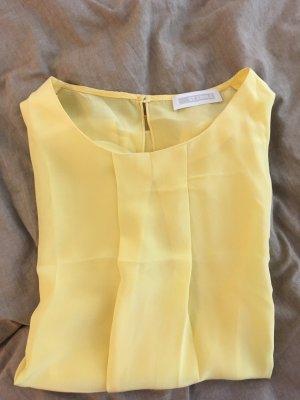 St. emile Top in seta giallo pallido Seta