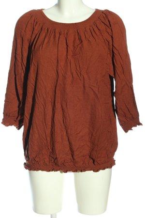 Zizzi Carmen-Bluse rot Casual-Look