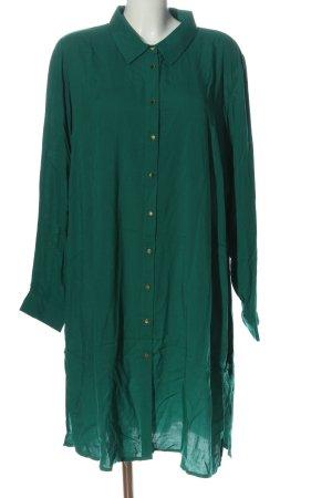 Zizzi Vestido tipo blusón verde estilo «business»