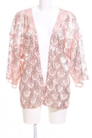 Zizzi Kimono pink abstraktes Muster Elegant