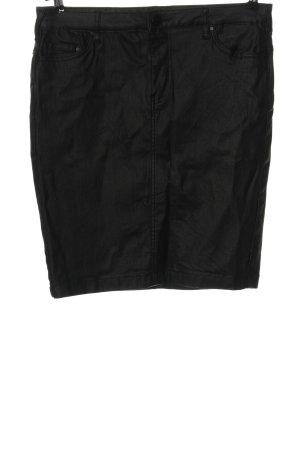 Zizzi Spódnica z imitacji skóry czarny W stylu casual