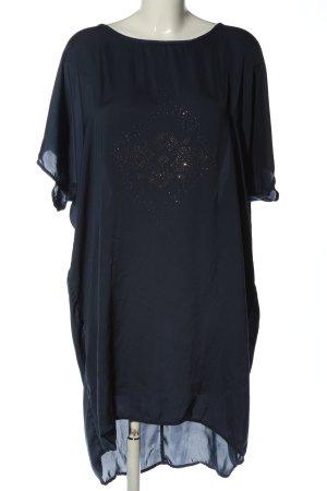 Zizzi Kurzarmkleid blau grafisches Muster Casual-Look