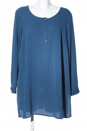 Zizzi Langarm-Bluse blau Casual-Look