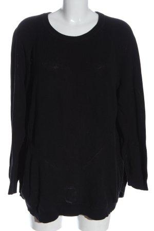 Zizzi Long Sweater black casual look