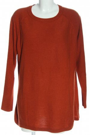 Zizzi Long Sweater light orange casual look