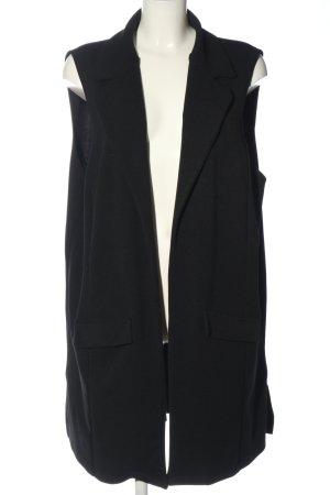 Zizzi Long Knitted Vest black casual look