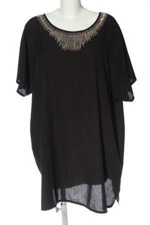 Zizzi Minikleid schwarz-silberfarben Casual-Look