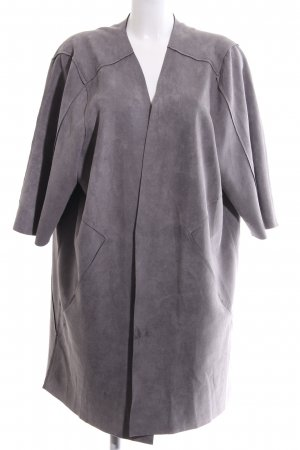 Zizzi Oversized Mantel hellgrau Casual-Look