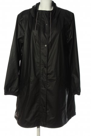 Zizzi Raincoat black simple style