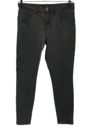 Zizzi Skinny Jeans hellgrau Casual-Look