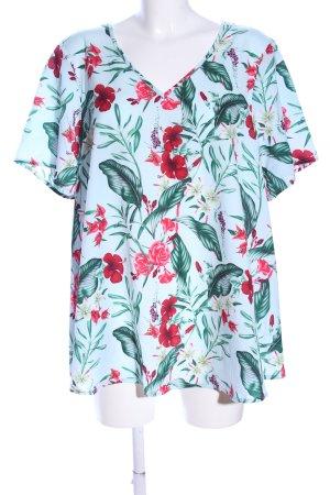 Zizzi Transparenz-Bluse Blumenmuster Casual-Look