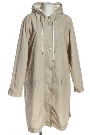 Zizzi Manteau à capuche blanc cassé style décontracté