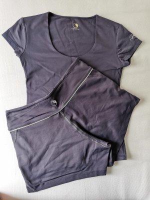 Maglietta sport viola-grigio