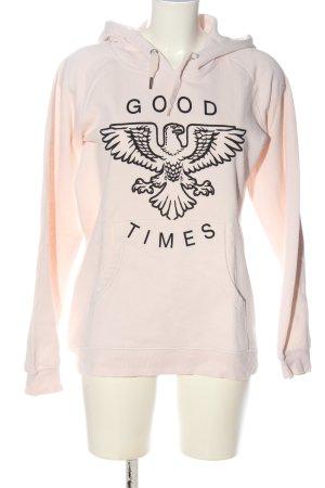 Zoe Karssen Kapuzensweatshirt pink-schwarz Motivdruck Casual-Look