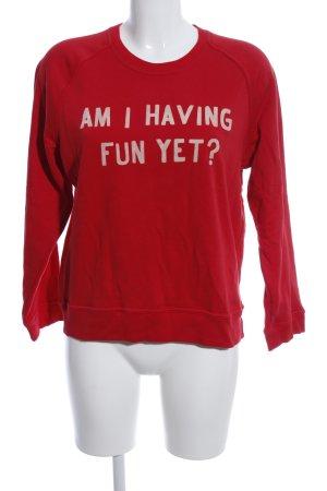 Zoe Karssen Sweatshirt rot Schriftzug gedruckt Casual-Look