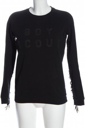 Zoe Karssen Sweat Shirt black printed lettering casual look