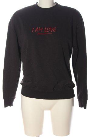 Zoe Karssen Sweat Shirt black casual look