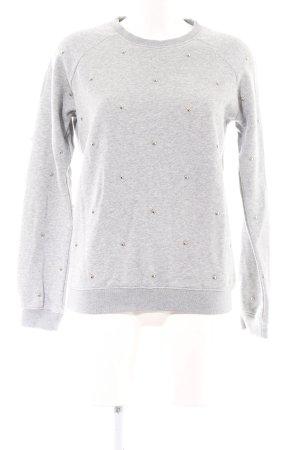 Zoe Karssen Sweatshirt hellgrau Casual-Look