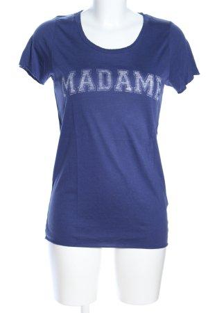 Zoe Karssen T-Shirt blau Schriftzug gedruckt Casual-Look