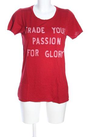 Zoe Karssen T-Shirt rot-weiß Schriftzug gedruckt Casual-Look