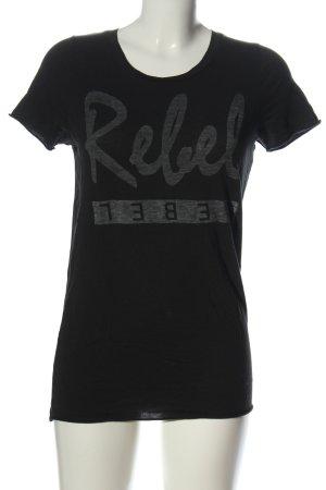 Zoe Karssen T-Shirt black printed lettering casual look