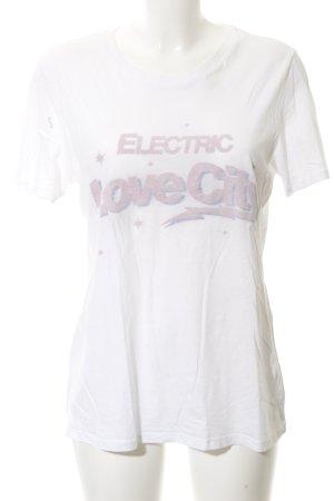 Zoe Karssen T-Shirt weiß Schriftzug gedruckt Washed-Optik