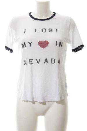 Zoe Karssen T-Shirt weiß-schwarz Schriftzug gedruckt