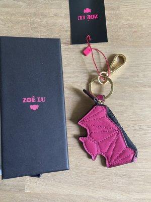 Zoé Lu Sleutelhanger roze Leer