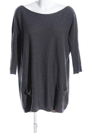 Zoe Ona Oversized Pullover hellgrau meliert Casual-Look