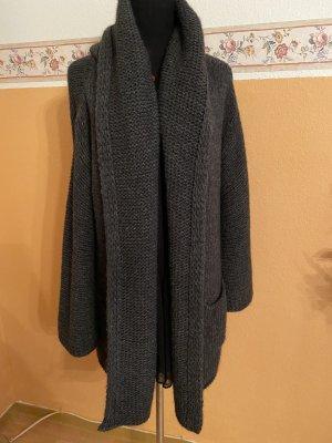 Zoe Ona Veste tricotée en grosses mailles gris foncé-gris anthracite