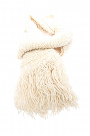 Zoe Ona Knitted Scarf cream striped pattern casual look