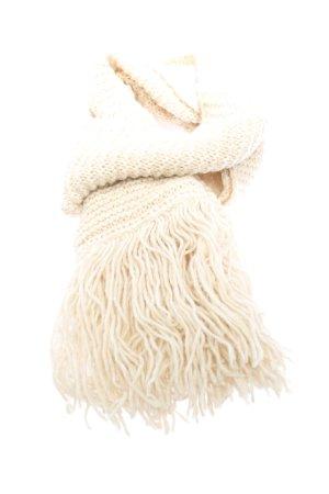 Zoe Ona Écharpe en tricot crème motif rayé style décontracté