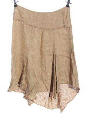 ZOI Jupe en lin brun style décontracté