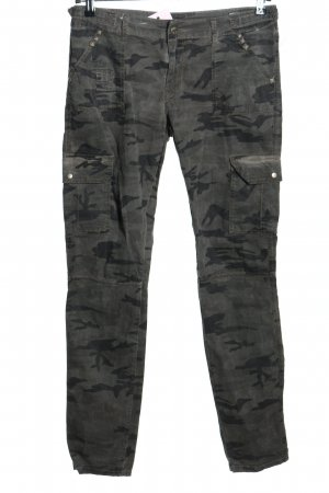 Zoo york Low-Rise Trousers black-light grey camouflage pattern casual look