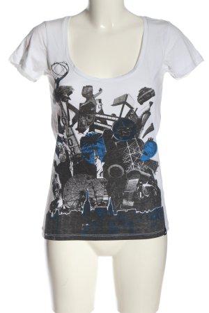 Zoo york T-shirt imprimé blanc imprimé avec thème style décontracté